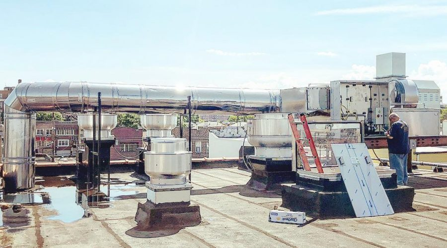 Rooftop Commercial Kitchen Exhaust Systems and Ductwork